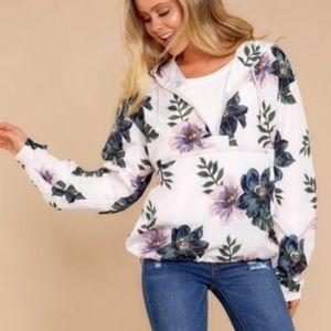 Thread&Supply- Floral Rain Jacket